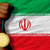 gold medal for sport and national flag of iran stock photo © vepar5