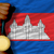 gold medal for sport and national flag of cambodia stock photo © vepar5