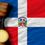 gold medal for sport and national flag of dominican stock photo © vepar5