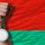 silver medal for sport and national flag of belarus stock photo © vepar5
