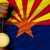 gold medal for sport and flag of american state of arizona stock photo © vepar5