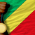 gold medal for sport and national flag of of congo stock photo © vepar5