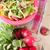 Bunch of fresh red radishes stock photo © veralub