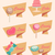 set of icons for sweet candy cake and love stock photo © veralub