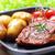 стейк · гриль · картофель · оливкового · обеда - Сток-фото © vertmedia