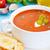 トマトスープ · 新鮮な · ハーブ · 自家製 · ガーリックブレッド · ディナー - ストックフォト © vertmedia