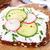 パン · ハーブ · 新鮮な · 大根 · キュウリ · 皿 - ストックフォト © vertmedia