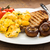 huevos · revueltos · rústico · brindis · setas · alimentos · comer - foto stock © vertmedia