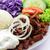 zöldségek · rizs · uborka · paradicsomok · marhahús · piros - stock fotó © vertmedia