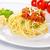 спагетти · свинина · мяса · продовольствие · сыра · вилка - Сток-фото © vertmedia