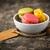 vanilya · çikolata · macarons · üç · fransız - stok fotoğraf © vertmedia