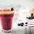 ブルーベリー · スムージー · 新鮮な · 装飾された · 砂糖黍 · 全体 - ストックフォト © vertmedia