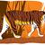 Vector illustration of cartoon tiger. stock photo © Vertyr