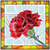vector illustration of flower red carnation stock photo © vertyr