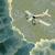 avião · nuvens · acima · terreno · vetor · praça - foto stock © Vertyr