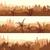 horizontal · ilustração · grande · Árabe · cidade · pôr · do · sol - foto stock © vertyr