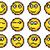 Set of vector simple yellow pixel smiley. stock photo © Vertyr