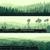 horizontal banners of locomotive train and hills coniferous woo stock photo © vertyr