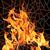 vektor · tűz · mozaik · nagy · láng · fekete - stock fotó © Vertyr