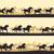 lovak · sziluett · ló · öt · különböző · kő - stock fotó © vertyr