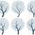 abstrato · silhuetas · árvores · flocos · de · neve · conjunto · vetor - foto stock © Vertyr
