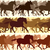 Horizontal illustration herd of horses. stock photo © Vertyr