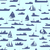 Seamless abstract cartoon background with many ships. stock photo © Vertyr