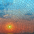 pôr · do · sol · mar · blue · sky · vitrais · janela · água - foto stock © Vertyr