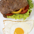 Sandwich with vegetables and half baked egg stock photo © vetdoctor