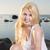 woman in white dress posing on seashore stock photo © vetdoctor