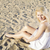 woman in white dress posing on sand stock photo © vetdoctor