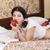 woman in schoolgirl dress eat red apple stock photo © vetdoctor
