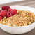 zoomed golden cereals with berries with spoon stock photo © vetdoctor