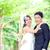 романтические · пары · портрет · свадьба · улыбка - Сток-фото © vichie81