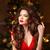 クリスマス · 女性 · 長髪 · ファッション · イヤリング · 化粧 - ストックフォト © Victoria_Andreas