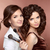 hair beautiful two brunette smiling girls makeup artist with b stock photo © victoria_andreas