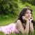 moda · morena · mulher · bonita · longo · rosa - foto stock © victoria_andreas