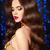 portré · gyönyörű · nő · hullámos · haj · piros · ajkak · gyönyörű · fiatal · nő - stock fotó © victoria_andreas