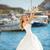 mooie · bruid · trouwjurk · witte · paraplu · poseren - stockfoto © victoria_andreas