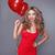 dia · dos · namorados · mulher · vestido · vermelho · balões · amor - foto stock © Victoria_Andreas