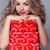 belo · mulher · atraente · vermelho · caixa · de · presente · cinza · coração - foto stock © Victoria_Andreas