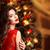 natal · belo · sorrindo · moda · rubi · brincos - foto stock © victoria_andreas