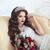 mooie · brunette · bruid · bruiloft · portret · rode · lippen - stockfoto © Victoria_Andreas