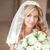 Wedding portrait Beautiful bride girl with long wavy hair and ma stock photo © Victoria_Andreas