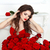 beauty model girl with makeup long hair and beautiful red roses stock photo © victoria_andreas