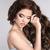 bela · mulher · cabelos · cacheados · isolado · bege · retrato · sensual - foto stock © victoria_andreas
