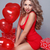 dia · dos · namorados · belo · feliz · mulher · vermelho · coração - foto stock © Victoria_Andreas
