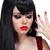 sensual · morena · mulher · lábios · vermelhos · unhas · manicure - foto stock © victoria_andreas