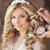 maquillaje · hermosa · sonriendo · novia · boda · retrato - foto stock © victoria_andreas