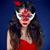 bruin · carnaval · masker · zwarte · zijde · vrouw - stockfoto © victoria_andreas